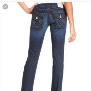 True Religion Billy Straight Leg Jeans Sz 25